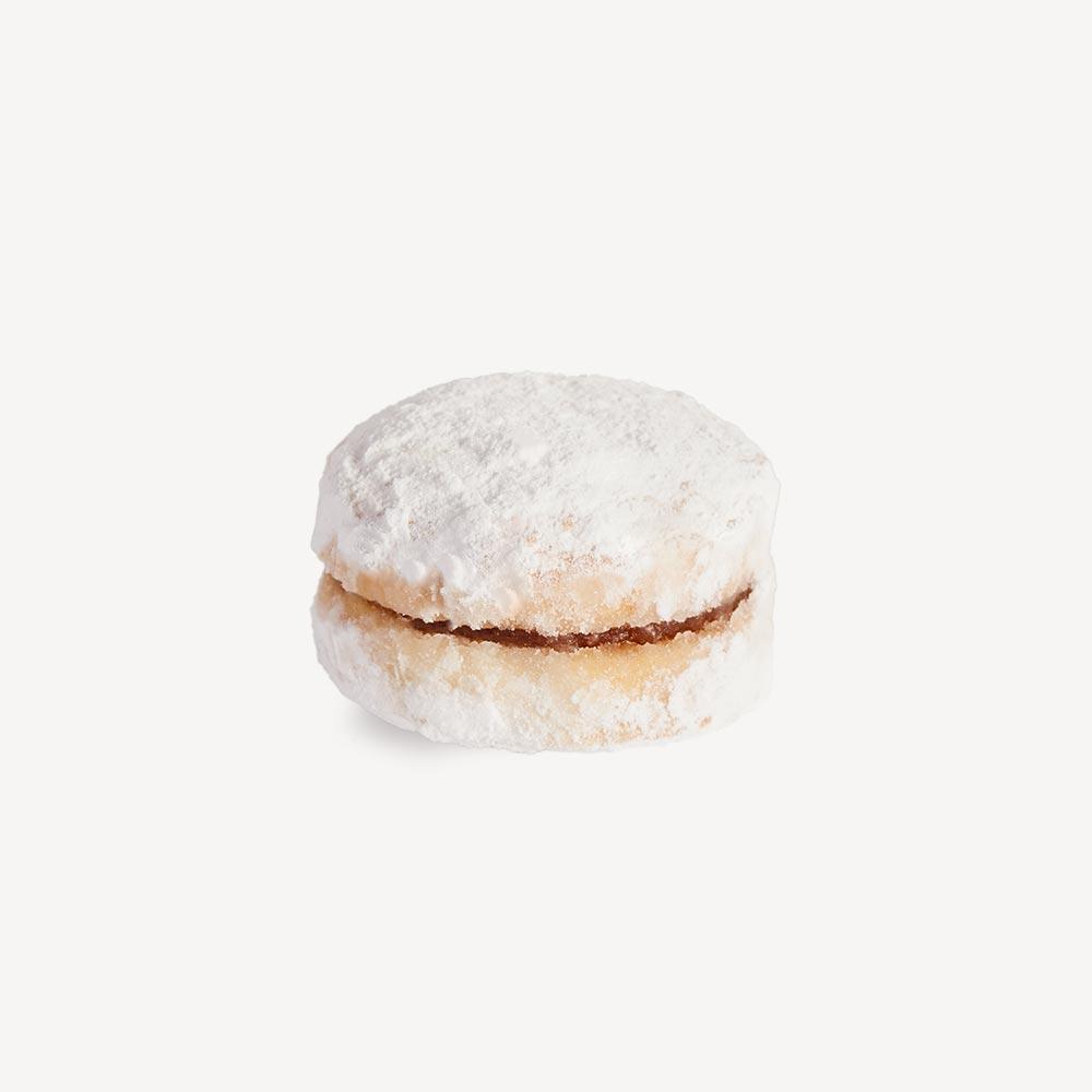Vaniline - punjeno čajno pecivo posuto šećerom u prahu, punjeno nadevom od kajsije