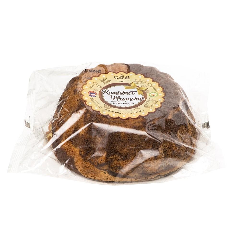 Komisbrot (kuglof) mramorni, sa čokoladom, ambalaža